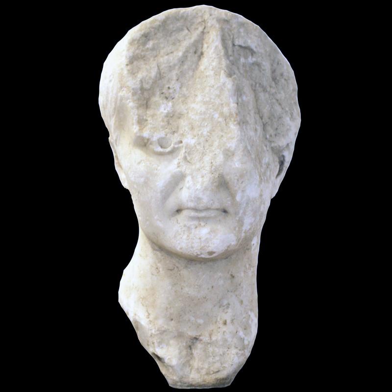 Portret rimskog cara Tiberija, Omiš – Baučići, 1. st.