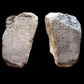Žrtvenik s dva natpisa, Omiš – Baučići, 1. st.